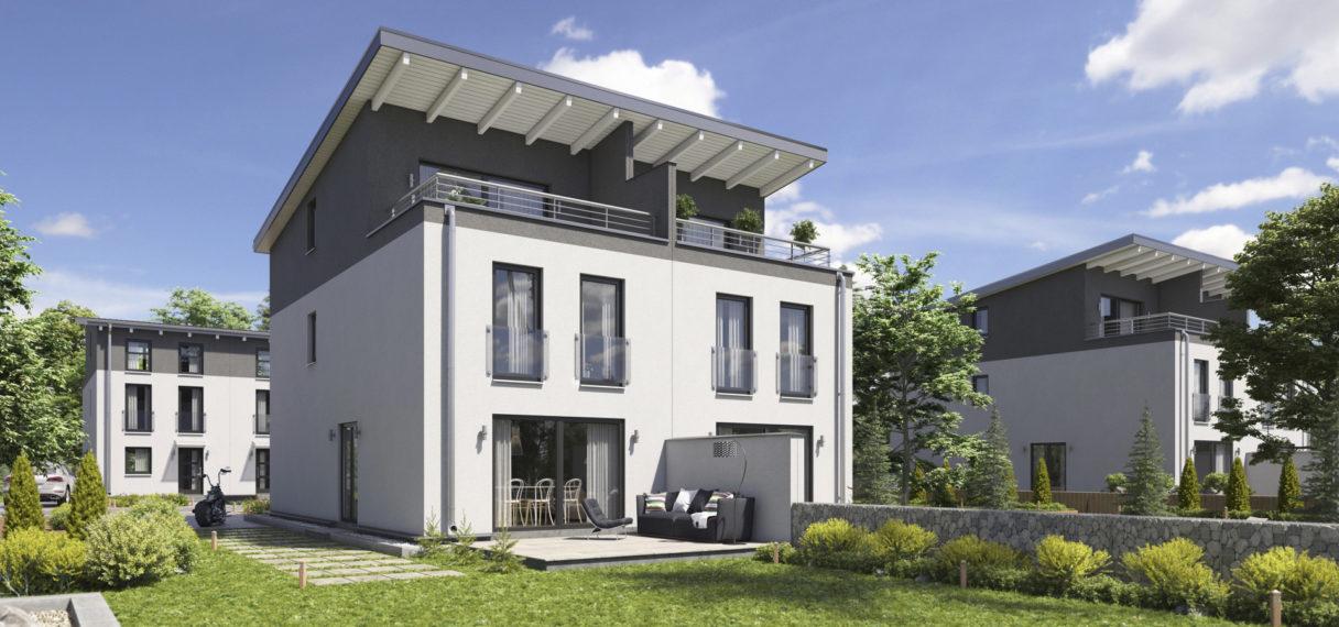 Relativ Doppelhaus Classic 146 ( Pultdach ) - WinDA - XO58